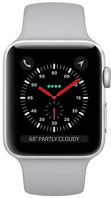 Apple Watch Series 3 (GPS) 38mm Silver Aluminum w. Fog Sport B. - Silver (MQKU2) - ITMag