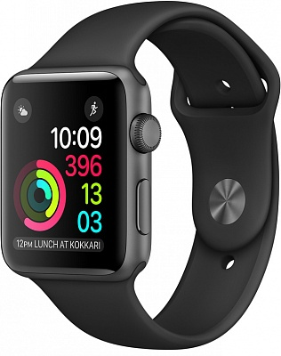 Apple Watch Series 2 38mm Space Gray Aluminum Case with Black Sport Band (MP0D2) - ITMag