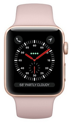 Apple Watch Series 3 GPS + Cellular 42mm Gold Aluminum w. Pink Sand Sport B. (MQK32) - ITMag