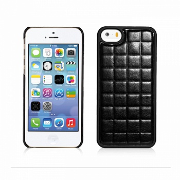 Чехол Xoomz для iPhone 5/5S PU Grid Black (back cover) (XIP501) - ITMag