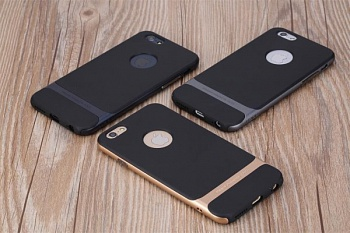 "TPU+PC чехол Rock Royce Series для Apple iPhone 6 Plus/6S Plus (5.5"") (Черный / серый) - ITMag"