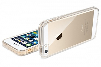 Пластиковая накладка SGP iPhone 5S/5 Case Ultra Hybrid Crystal Clear (SGP10639) - ITMag