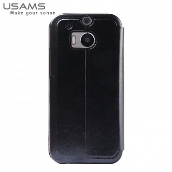 Чехол USAMS Merry Series for HTC One M8 Smart Leather Stand Black - ITMag