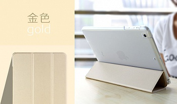 Чехол (книжка) Rock Touch series для Apple IPAD mini (RETINA)/Apple IPAD mini 3 (Золотой / Gold) - ITMag