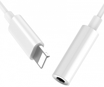 Переходник Baseus L30 Simple Apple Connector To 3.5mm Music Adapter White (CALL30-A02) - ITMag
