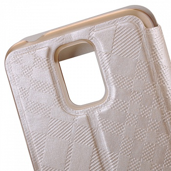 Чехол Baseus Brocade II Series для Samsung Galaxy S5 G900F View Window Champagne Gold - ITMag