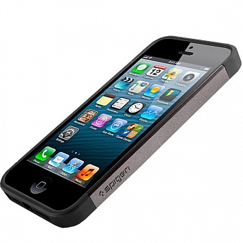 Чехол SGP iPhone 5S/5 Case Slim Armor S Gunmetal (SGP10475) - ITMag