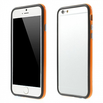 TPU бампер EGGO для iPhone 6/6S - Black / Orange - ITMag