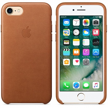 Apple iPhone 7 Leather Case - Saddle Brown MMY22 - ITMag