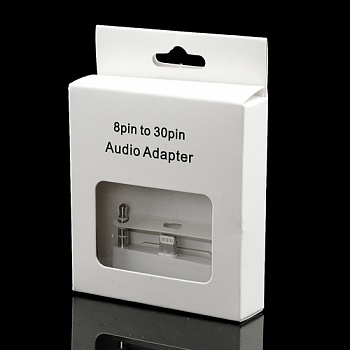 Переходник Lightning to 30-pin Adapter with 3.5mm audio for iPhone 5/5S white - ITMag