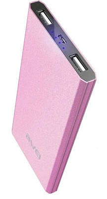 Awei Power Bank P87k 8000mAh Pink - ITMag