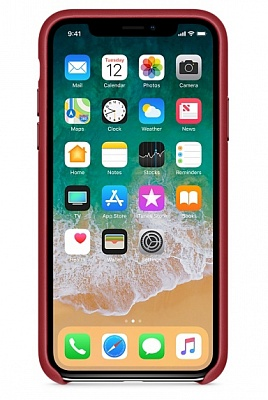Apple iPhone X Leather Case - PRODUCT RED (MQTE2) - ITMag