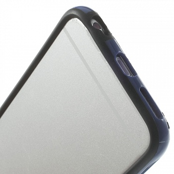 TPU бампер EGGO для iPhone 6/6S - Black / Dark Blue - ITMag