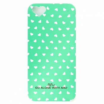 Чехол ARU для iPhone 5S Hearts Green - ITMag