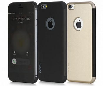 "Чехол (книжка) Rock DR.V Series для Apple iPhone 6/6S (4.7"") (Золотой / Gold) - ITMag"