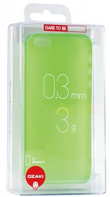 Ozaki O!coat 0.3 Jelly Green for iPhone 5/5S (OC533GN) - ITMag
