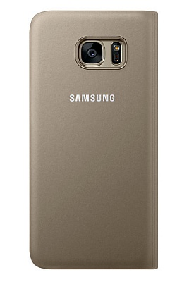 Samsung S View Cover Galaxy S7 Edge Gold (EF-CG935PFEGRU) - ITMag