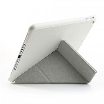 Чехол EGGO Tri-fold Cross Pattern Leather Case for iPad Air White - ITMag