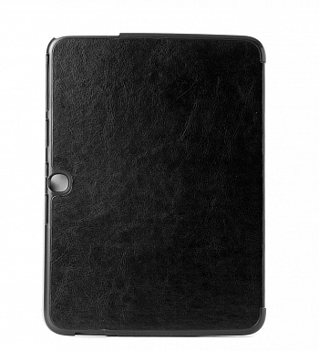 Чехол Crazy Horse Tri-fold Leather Folio Cover Stand Black for Samsung Galaxy Tab 3 10.1 P5200/P5210 - ITMag