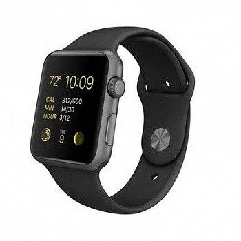 Apple Watch Sport 42mm Space Gray Aluminum Case with Black Sport Band (MJ3T2) - ITMag