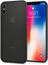Spigen Case Air Skin for iPhone X Black (057CS22114) - ITMag