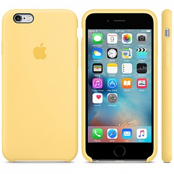 Apple iPhone 6s Silicone Case - Yellow MM662 - ITMag