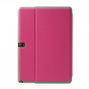 Чехол Crazy Horse Tri-fold with Wake Up for Samsung Galaxy Note 10.1 (2014) P600/P601/P605 Rose - ITMag