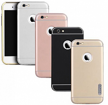 "Чехол iPaky Metal Frame Series для Apple iPhone 6/6s (4.7"") (Черный) - ITMag"