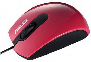 Asus UT210-90-XB1C00MU00800 USB Optical Mouse - RED - ITMag