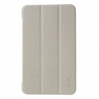 Чехол EGGO Silk Texture Leather Case для Asus Memo Pad 7 ME176 with Tri-fold Stand (Белый/White) - ITMag