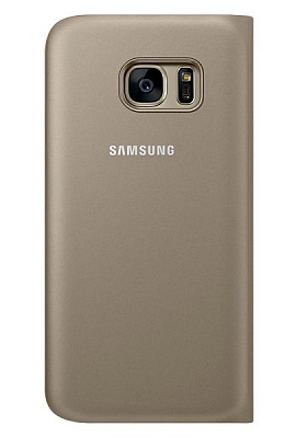 Samsung S View Cover Galaxy S7 Gold (EF-CG930PFEGRU) - ITMag