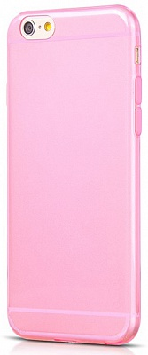 Чехол HOCO Light Series 0.6mm Ultra Slim TPU Jellly Case for iPhone 6/6S - Transparent Pink - ITMag