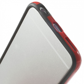 TPU бампер EGGO для iPhone 6/6S - Black / Red - ITMag