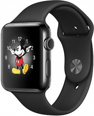 Apple Watch Series 2 38mm Space Black Stainless Steel Case with Black Sport Band (MP492) - ITMag