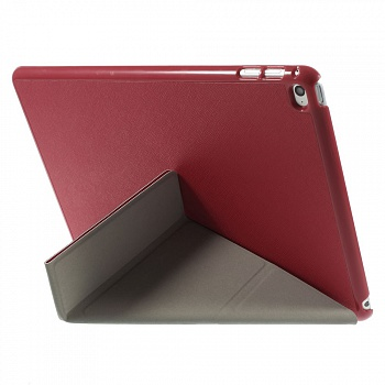 Чехол EGGO для iPad Air 2 Cross Texture Origami Stand Folio - Red - ITMag