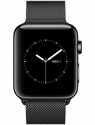 Apple Watch Series 2 38mm Space Black Stainless Steel Case with Space Black Milanese Loop Band (MNPE2) - ITMag