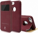 Чехол Baseus Simple Series Leather Case iPhone 7 Wine Red (LTAPIPH7-SM09) - ITMag