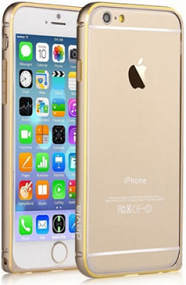 Бампер Vouni для iPhone 6/6S Buckle Curve Champagne Gold - ITMag