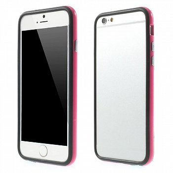 TPU бампер EGGO для iPhone 6/6S - Black / Rose - ITMag