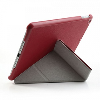 Чехол EGGO Tri-fold Cross Pattern Leather Case for iPad Air Red - ITMag