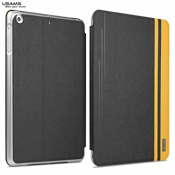 Чехол USAMS Jazz Series for iPad Air Smart Slim Leather Stand Cover Black - ITMag