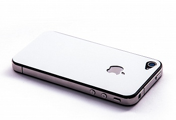 Пленка защитная EGGO iPhone 4/4S Crystalcover white BackSide (белая, перламутровая) - ITMag