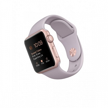 Apple Watch Sport 38mm Rose Gold Aluminum Case with Lavender Sport Band (MLCH2) - ITMag