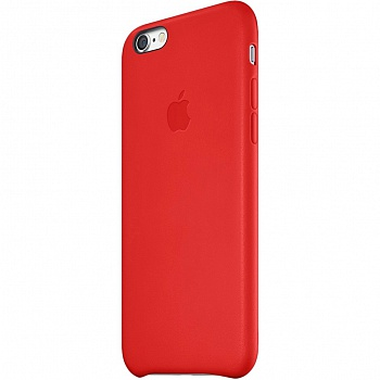 Apple iPhone 6 Leather Case - Red MGR82 - ITMag