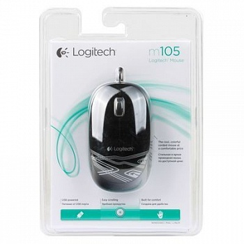 Logitech M105 Corded Optical Mouse (Black) - ITMag