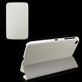 Чехол Crazy Horse Slim Leather Case Cover Stand for Samsung Galaxy Tab 3 8.0 T3100/T3110 White - ITMag