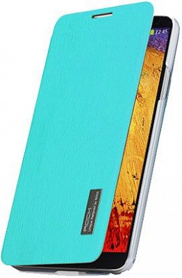 Чехол (книжка) ROCK Elegant Series для Samsung N9000/N9002 Galaxy Note 3 (Бирюзовый / Azure) - ITMag