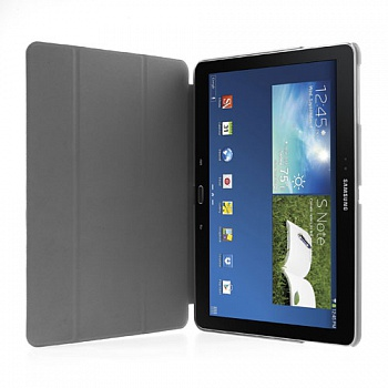 Чехол Crazy Horse Tri-fold with Wake Up for Samsung Galaxy Note 10.1 (2014) P600/P601/P605 White - ITMag