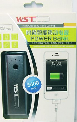 Внешняя батарея Power Bank WST Apple/Samsung/HTC/Motorola/Nokia 5600mAh (grey) - ITMag
