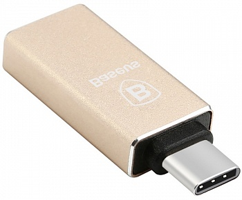 OTG Baseus Sharp Series type-c adapter Champagne Gold (CATYPEC-AD0V) - ITMag